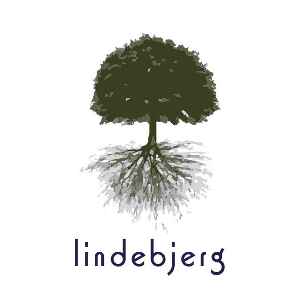 Logo lindebjerg: ein Baum mit Wurzeln
